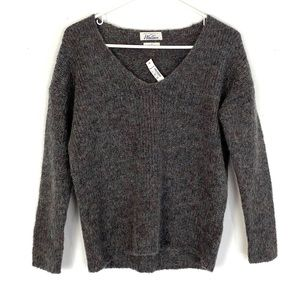 NWT Madewell Wallace Scoop VNeck Multi Sweater